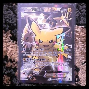 Ultra Rare Pikachu EX Pokemon Card